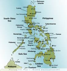 Map Of The Philippines Luzon Philippines Maps   Luzon Visayas and Mindanao Provinces
